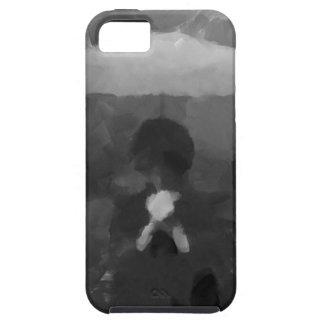 En la pintura oscura del arte de la lluvia funda para iPhone SE/5/5s
