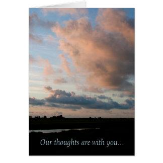 En la puesta del sol - tarjetas de condolencia