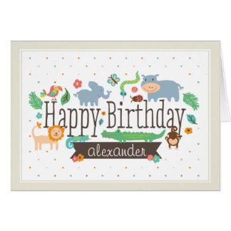 En la selva embroma la tarjeta de cumpleaños