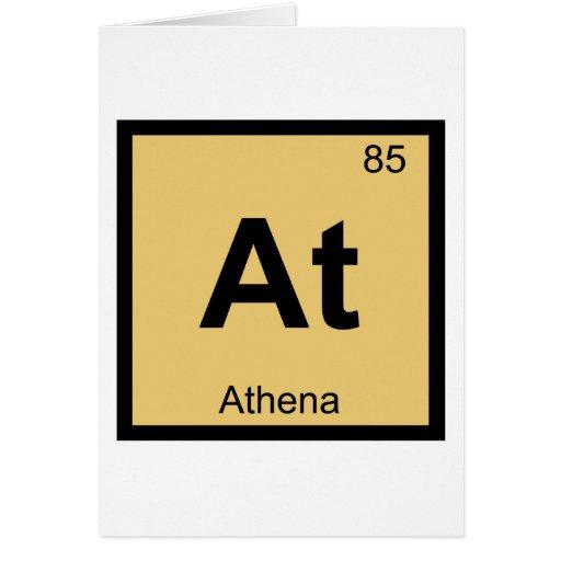 En - la tabla periódica de la química de la diosa  tarjetas