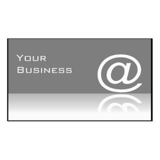 '@ 'en la tarjeta de visita de la tecnología del s