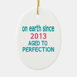 En la tierra envejecida desde 2013 a la perfección adorno ovalado de cerámica