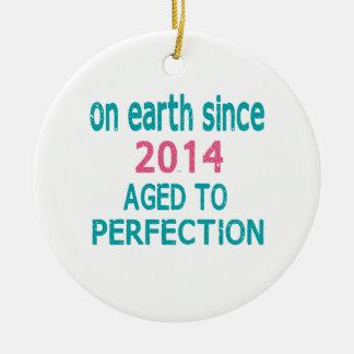 En la tierra envejecida desde 2014 a la perfección adorno redondo de cerámica