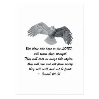 En las alas como Eagles - es el 40:31 Postales