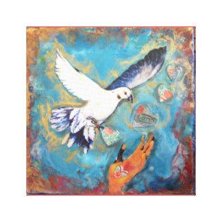 En las alas de la impresión de la lona del amor lienzo envuelto para galerias
