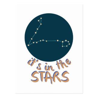En las estrellas postal