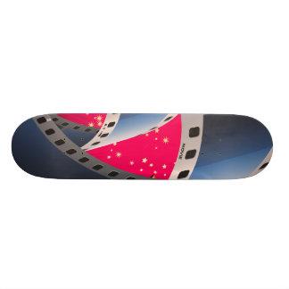 En las películas patines