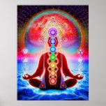En meditación póster