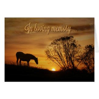 En memoria cariñosa y la tarjeta más profunda del