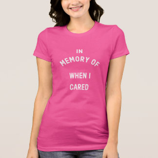 En memoria de cuando cuidé, camiseta del jersey