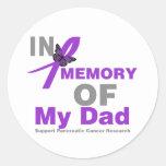 En memoria de mi cáncer pancreático del papá pegatina