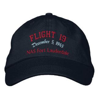 En memoria del vuelo 19 gorra bordada