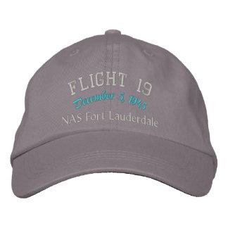 En memoria del vuelo 19 gorras bordadas