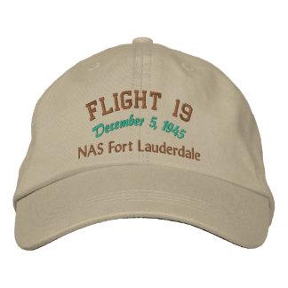 En memoria del vuelo 19 gorras de béisbol bordadas