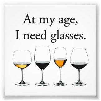 En mi edad, necesito los vidrios impresion fotografica