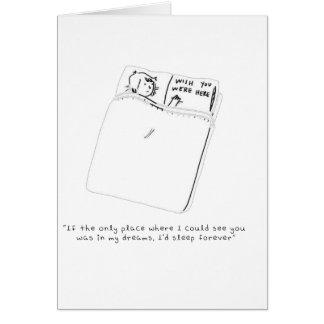 En mis sueños tarjeta de felicitación