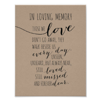 En muestra cariñosa de la memoria - ésos que póster