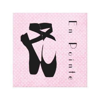 En negro Pointe de los zapatos de ballet Lona Estirada Galerías