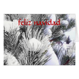 En Nieve - navidad español de Feliz Navidad Tarjeta De Felicitación