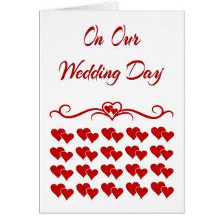 En nuestra tarjeta del día de boda