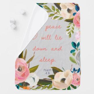 En paz me acostaré y manta del bebé del sueño
