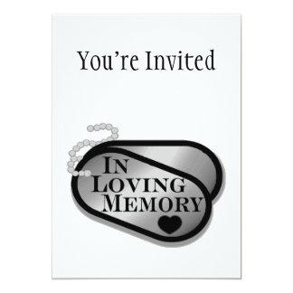 En placas de identificación cariñosas de la invitación 12,7 x 17,8 cm
