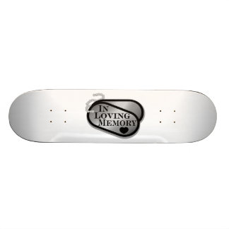 En placas de identificación cariñosas de la memori tablas de patinar