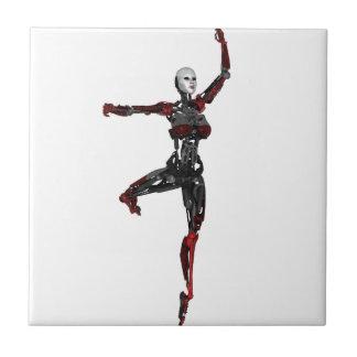 En Pointe del ballet del Cyborg Azulejo Cuadrado Pequeño