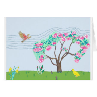 En primavera tarjeta