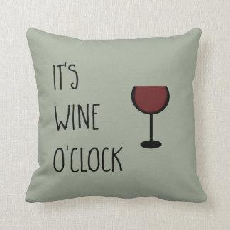 En punto del vino cojín decorativo
