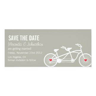 En reserva gris del diseño de la bicicleta del invitación 10,1 x 23,5 cm