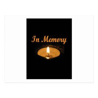 En resplandor de la vela de la memoria postal