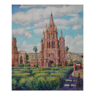 En San Miguel de Allende Print de la plaza Póster