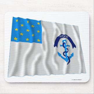 En segundo lugar bandera del regimiento de Rhode I Tapete De Ratón