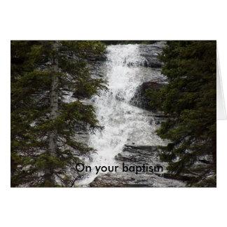 En su bautismo tarjeta