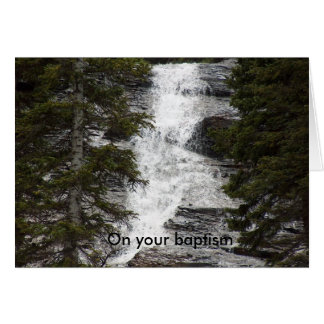 En su bautismo tarjeta de felicitación