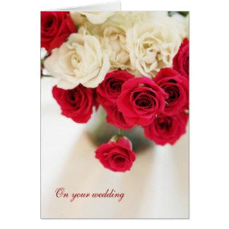 En su boda tarjeta de felicitación