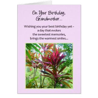 En su cumpleaños, abuela… tarjeton