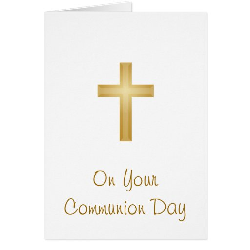En su día de la comunión tarjeta