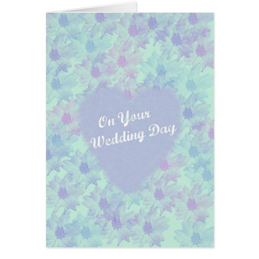 En su tarjeta de felicitación del día de boda