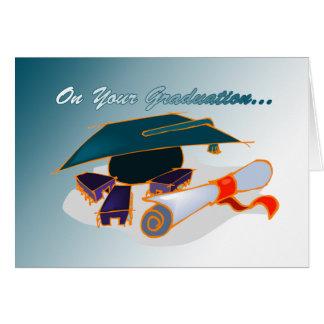 En su tarjeta de la graduación