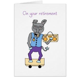 En su tarjeta del retiro