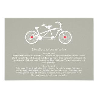 En tarjetas grises de la dirección del boda de la  comunicados personales