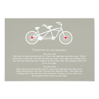 En tarjetas grises de la dirección del boda de la invitación 8,9 x 12,7 cm