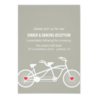 En tarjetas grises de la recepción del diseño de invitación 8,9 x 12,7 cm
