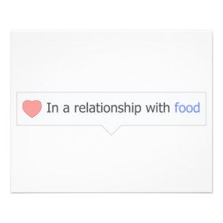 En una relación con la comida tarjeta publicitaria
