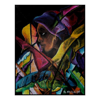 En Vitraux II de Haitienne - mosaïque del en Poster