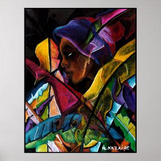 En Vitraux V de Haitienne - soie más papier del en Impresiones