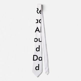 En voz alta leído lazo del papá corbata personalizada