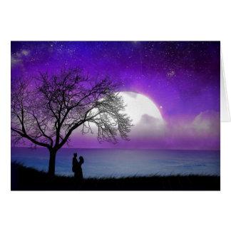 Enamorado al claro de luna - tarjeta